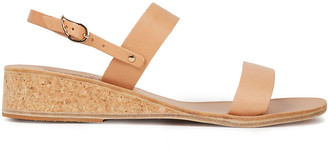 Ancient Greek Sandals Clio Leather Wedge Sandals