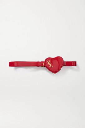 Saint Laurent Coeur Patent-leather Belt Bag - Red