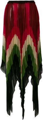 Gucci Jagged Micro Pleated Skirt