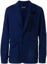 Ann Demeulemeester feather applique blazer - men - Nylon/Wool - S