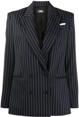 Karl Lagerfeld Paris STUDIO KL pinstripe double-breasted blazer