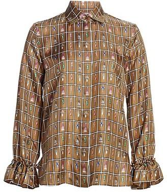 Max Mara Ubaldo Printed Silk Blouse