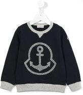 Moncler anchor detail sweatshirt - kids - Cotton/Acrylic/Wool - 5 yrs