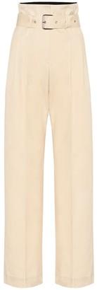 Plan C Cotton high-rise wide-leg pants