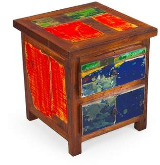 Eco Chic EcoChic Lifestyles Go Fish Reclaimed Wood End Table EcoChic Lifestyles