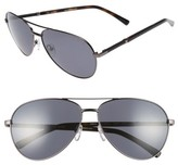 Ted Baker Men's 62Mm Polarized Aviator Sunglasses - Gunmetal
