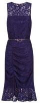 Dorothy Perkins Womens Paper Dolls Navy Lace Ruched Bodycon Dress, Navy