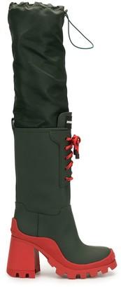 DSQUARED2 90mm Block-Heel Knee-High Boots