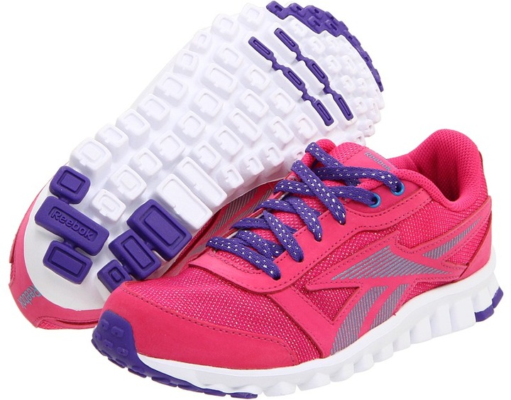 Reebok Kids - Realflex Optimal (Toddler/Youth) (Cosmic Berry/California Blue/Purple/White/Silver) - Footwear