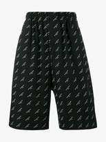 Balenciaga Drop crotch logo shorts