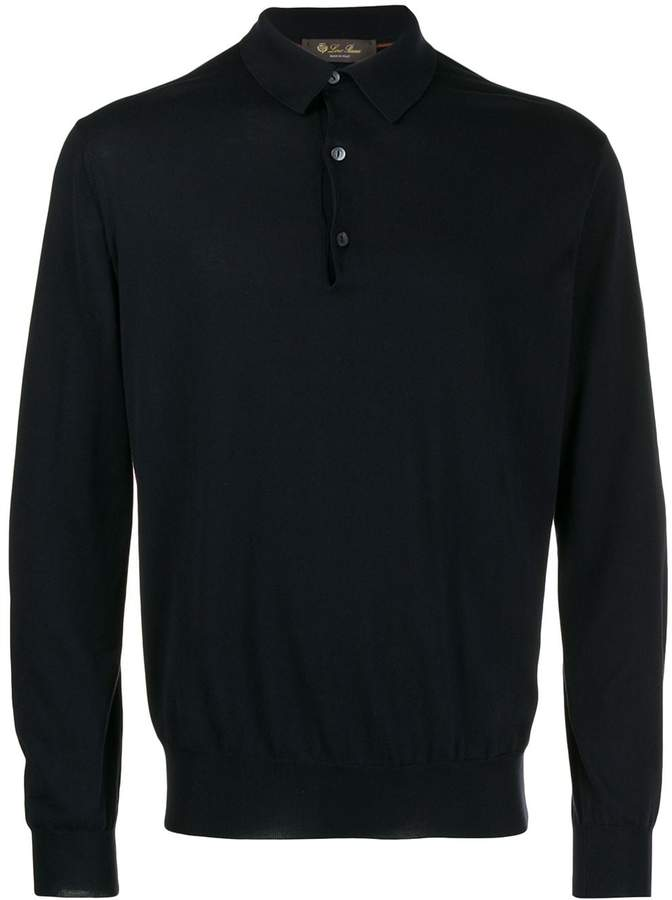Loro Piana long sleeve polo sweatshirt