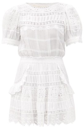 LoveShackFancy Augustine Broderie-anglaise Cotton Dress - White