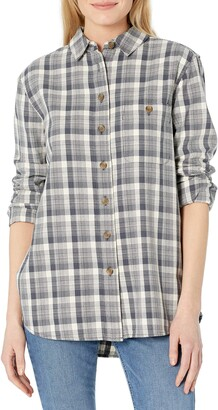 Pendleton Women's Beachshack Long Sleeve Cotton Flannel Shirt Button