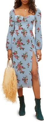 Reformation Shelby Floral Long Sleeve Dress