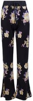 XARAZA Women's Floral Drawstring Wide Leg Long Flare Pants with Pockets