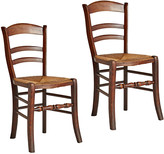 Rejuvenation Pair of Traditional Side Chairs w/ Rush Seats