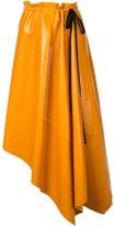 Proenza Schouler Asymmetrical Shiny Leather Mid Skirt