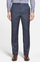Santorelli Flat Front Wool Trousers