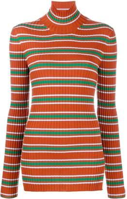Plan C striped roll neck jumper