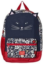 Joules Navy and Floral Print Cat Backpack