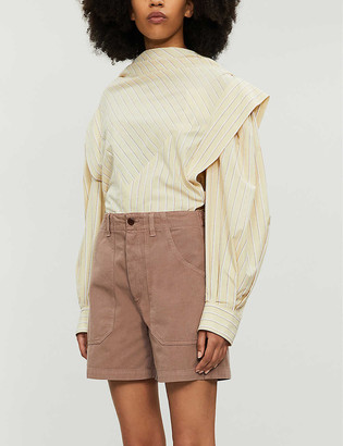 Citizens of Humanity Madeline high-rise cotton and linen-blend shorts