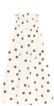 Ganni Polka-dot trapeze dress