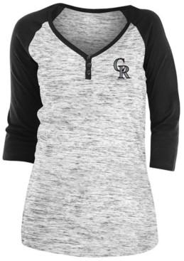 5th & Ocean Colorado Rockies Women's Space Dye Raglan Shirt