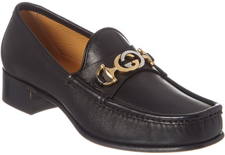 Gucci Interlocking G Horsebit Leather Loafer