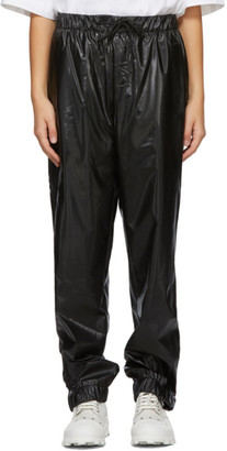 Rains Black Satin Lounge Pants