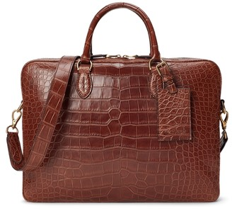 Ralph Lauren Alligator Briefcase
