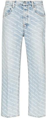 Alexander Wang Logo-Print Straight-Leg Jeans