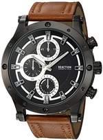 Kenneth Cole Reaction Men's Quartz Metal Casual Watch, Color:Brown (Model: RKC0220003)
