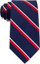 Tommy Hilfiger Men's Red Group Stripes Tie