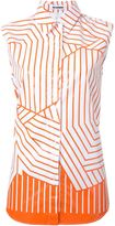 Jil Sander striped sleeveless shirt - women - Cotton - 38