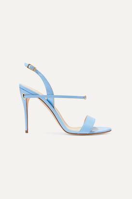 Jennifer Chamandi Tommaso 105 Leather Slingback Sandals - Blue