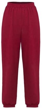 Annro Burgundy Sweatpants