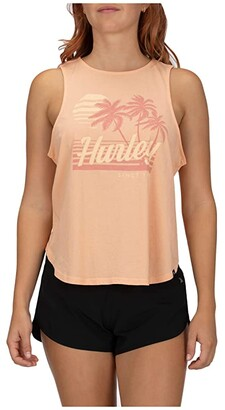 Hurley Domingo Flouncy Tank Top (Sunset Haze) Women's Sleeveless
