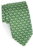 Salvatore Ferragamo Erede Elephant Print Silk Tie