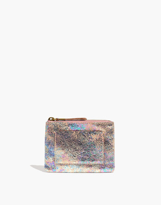 Madewell The Leather Pocket Pouch Wallet: Iridescent Edition