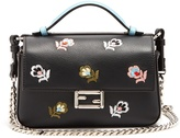 Fendi Micro Baguette embroidered leather cross-body bag