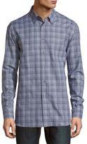 Brioni Cotton Casual Button-Down Plaid Shirt