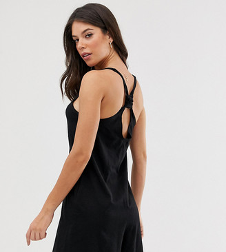 Asos DESIGN Tall minimal playsuit with knot back