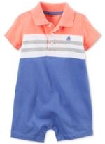 Carter's Striped Colorblocked Polo Romper, Baby Boys (0-24 months)