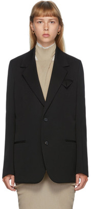 Bottega Veneta Black Wool Oversized Blazer