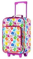 Olympia USA Playday 19-Inch Rolling Carry On Suitcase in Hand Print