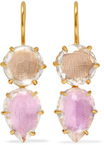 Larkspur & Hawk Caterina 18-karat Gold-dipped Quartz Earrings