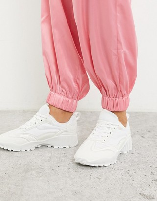 ASOS DESIGN Dominic chunky trainers in white
