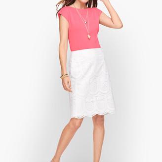 Talbots Eyelet Pineapple A-Line Skirt