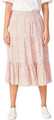 French Connection Crinkle Ditsy Midi Skirt