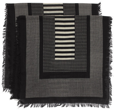 Madewell Houndstooth Grid Scarf